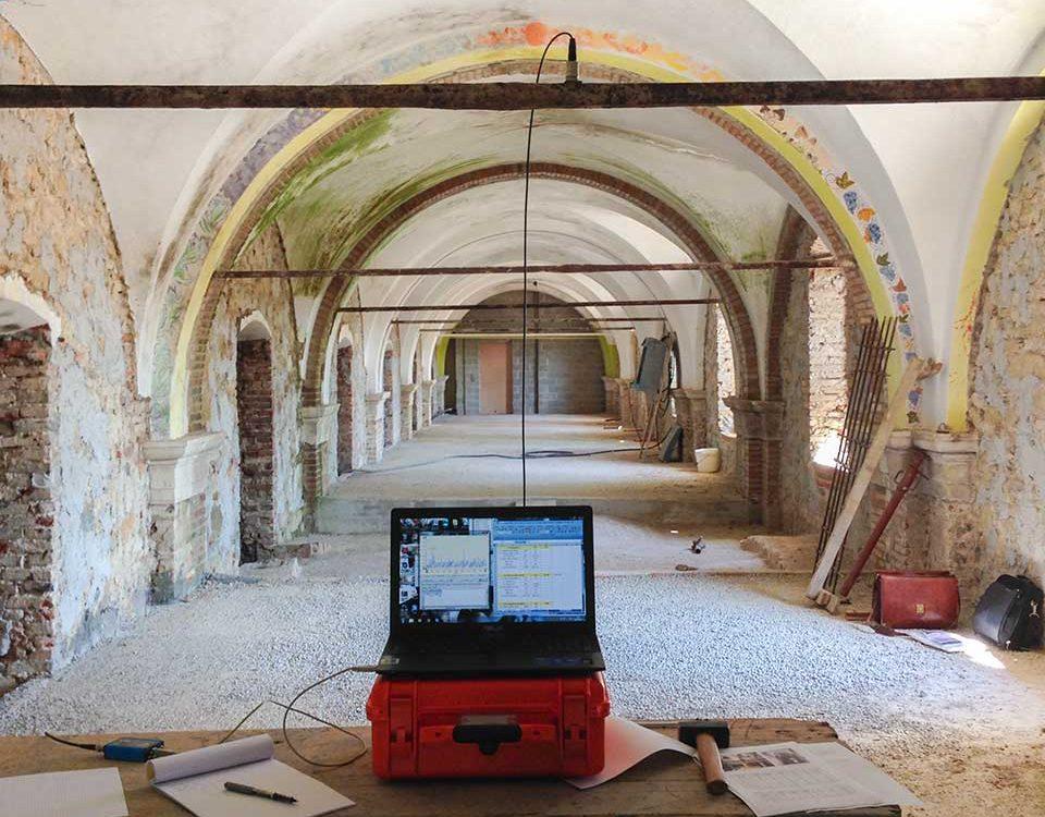 Sistema per la misurazione del tiro delle catene – Ex monastero Benedettino di San Paolo d'Argon (BG)