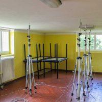 Disposizione dei sensori di rilevamento presso l'oratorio di Adrara San Martino (BG)