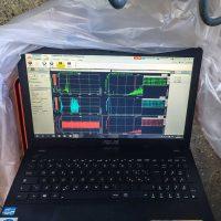 Schermata del software di acquisizione ed analisi dei dati accelerometrici
