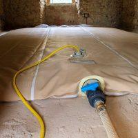 Esecuzione della prova di carico presso edificio privato in Calcinate (BG)