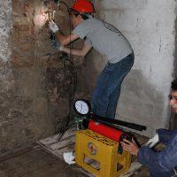 Rilievo degli spostamenti a seguito dell'aumento di pressione presso l' Ex Monastero di San Paolo d'Argon (BG)