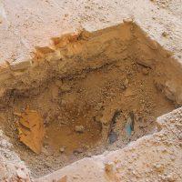 Scopo del saggio era quello di individuare l'eventuale presenza e profondità della roccia.