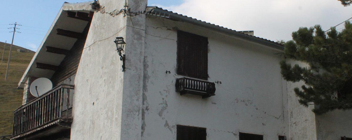 Edificio oggetto di indagini diagnostiche - Forca Canapine, Norcia (PG)