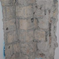 Saggio visivo in muratura per visionare il grado di ammorsatura delle pareti - Arquata del Tronto (MC)