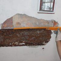 Trave rompitratta in acciaio e solaio in latero cemento prefabbricato - Ussita (MC)
