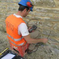 Stima della tessitura muraria tramite prova endoscopica - Sarnano (MC)
